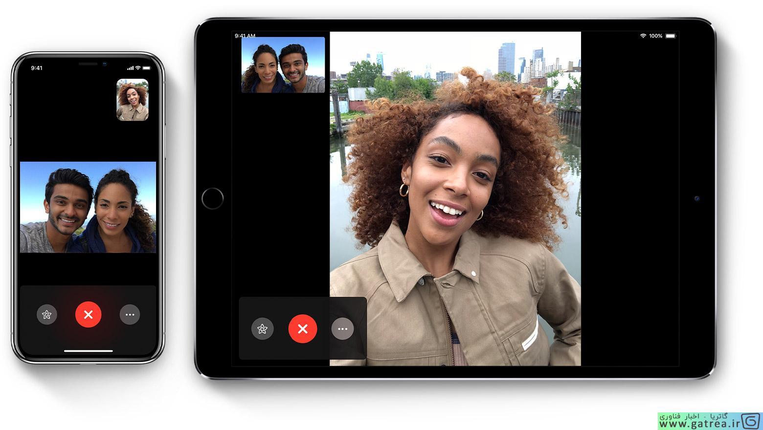 برنامه FaceTime اپل - گاتریا